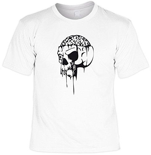 für Halloween! T-Shirt: - Open Skull - Zombie Splatter Blood Grusel Horror Geister Party Dead Fun ()