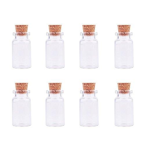 KingDao 10kleine Glücksbringer, Regenbogen, Transparent/Korken-Flaschen, farblos, 5ML