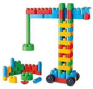 PolyM 760008Constructor Niños Pequeños de Juguete, Flexible y rundkantige Ladrillos