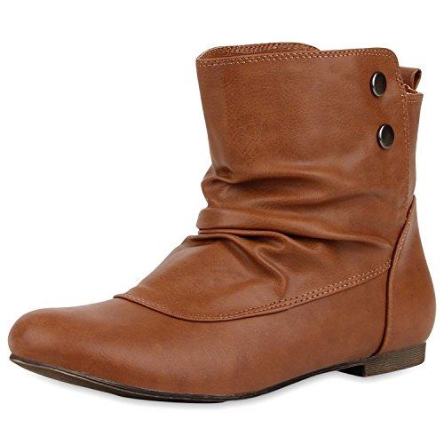 Japado - Botas plisadas Mujer, color Marrón, talla 37