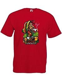 Camiseta manga corta para hombre transfer Rastafari
