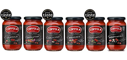 Coppola Sauces Set - No Sugar Added 6X Recipes (Pack of 6 x 350g)