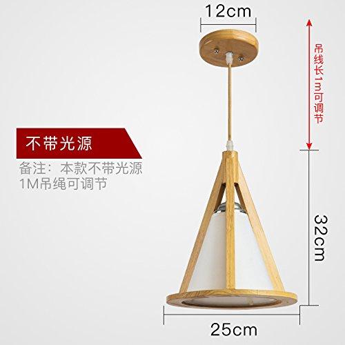 KANG@ Chinesische Kunst Nouveau Pendelleuchten Industrial Wind kreative Holz Einzel Oberkellner Lichtquelle