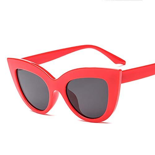 Taiyangcheng Cat Eye Frauen Sonnenbrille Getönte Farbe Objektiv Männer Vintage Geformte Sonnenbrille Weiblich,rot