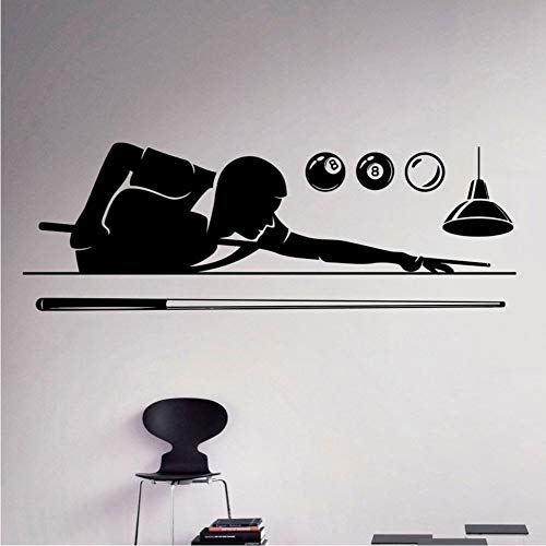 Billard Pool Wandtattoo Poolroom Hobby Vinyl Aufkleber Sport Kunst Dekor Home Interior Abnehmbare Poster An Der Wand Tapete 42 * 123Cm
