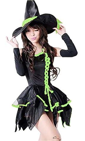 lifewheel Halloween Masquerade Costume Sorcière Chapeau de sorcière robe Vêtements Pretend Play et