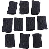 Protectores para dedos (10 unidades), color negro