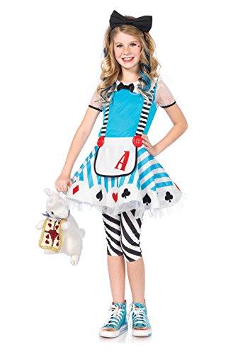 Leg Avenue C48150 - Entzückende AliKinderkostüme Set, Größe Large EUR (Tote Alice Im Wunderland Kostüm)