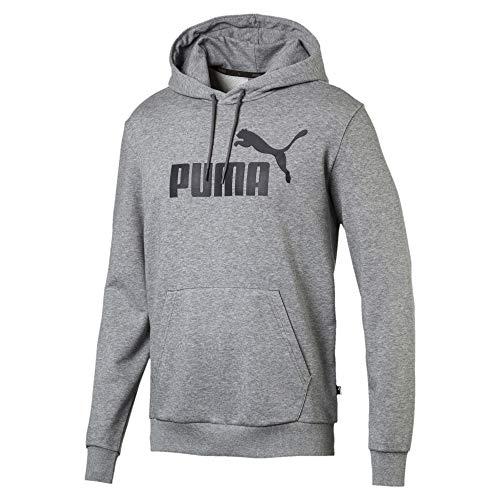 Puma Herren ESS Hoody TR Big Logo Sweatshirt, Medium Gray Heather, M Hoody Herren Casual-sweatshirts