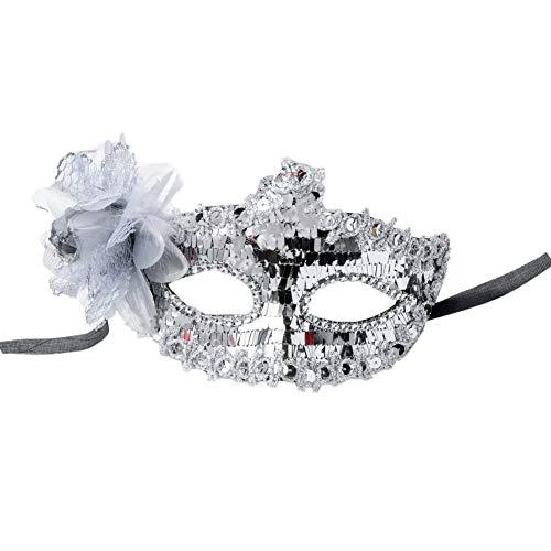 Lankater Maskerade Venetian Luxus-Gesichtsmaske Für Frauen-Spitze Pailletten Strass Partei, Ballsaal, Fancy Prom, Karneval, Hochzeit, - Flirt Spitzen Kostüm