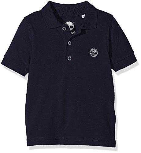 Timberland T25L46 Short Sleeve, Polo Bambino, Blu (Navy), 8 Anni