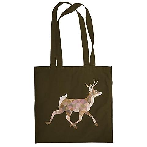 TEXLAB - Poly Deer - Stoffbeutel, braun (Internet Meme Kostüm)