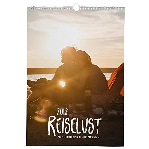 Reiselust Kalender A4 / 2018 Statement Kalender / Reisen Wandern Abenteuer / Wandkalender mit coolen Sprüchen