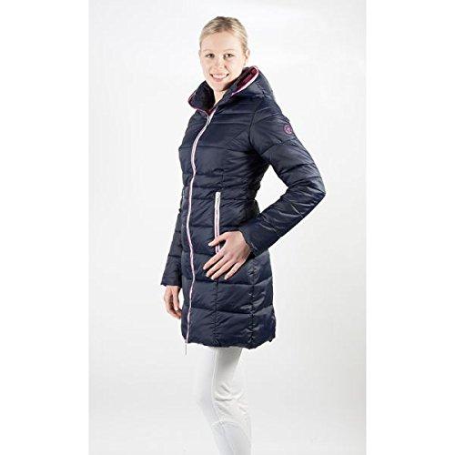 PFIFF Wintermantel-Moraya-Damen Steppmantel Jacke, blau-pink, L