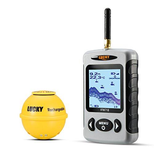 Lucky ffw718la Wireless Tragbarer Fisch-Finder mit Fisch attraktives Lampe