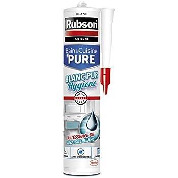 Rubson Cartouche De Mastic Blanc BainCuisine Pure  Pour Des Joints