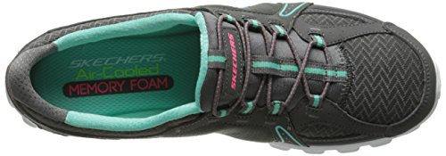 Skechers - Ez Flex 2 right-on, Sneaker basse Donna Charcoal
