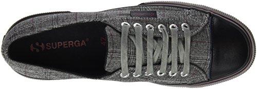 Superga 2750-fabric Gallesfglm, Pompes à plateforme plate homme Gris - Grigio (Dk Grey/Bordeaux)
