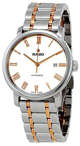 Rado DiaMaster XL Automatic Two Tone Stainless Steel Silver Dial Mens Watch Calendar R14077123