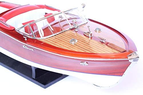 Générique modellino in legno del motoscafo riva aquarama, 67 cm, radio controllo possibile