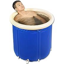 Helen Aufblasbare Wanne Erwachsene Falten Bad Badewanne Kunststoff Badewanne Kinder Waschbecken (blau)