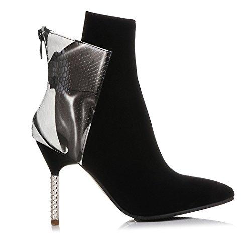 ZQ@QXregalo di Natale Europa e il codice colore scarpe tacchi alti con punta sottile stivali Color