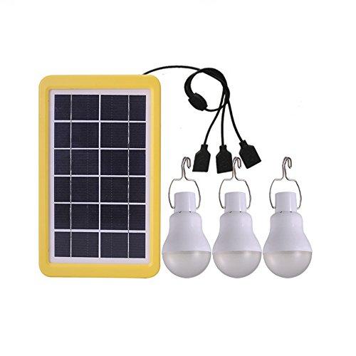 Ampoule Solaire avec panneau 3W pour Randonnée Camping Tente de Pêche Travail