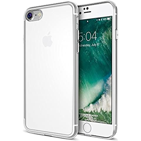 TBOC® Funda de Gel TPU Transparente para iPhone 7 (4.7 Pulgadas) de Silicona Ultrafina y Flexible