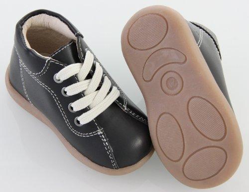 EN-FANT garçon bottillons premiers pas en cuir, brun, taille 22, 810126U-03 noir