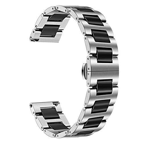 TRUMiRR Kompatibel mit Galaxy Watch 42mm/Galaxy Watch Active2/Galaxy Watch Active Armband,20mm Keramik Uhrenarmband Schnellspanner Ersatzband für Garmin Vivoactive 3, Garmin Vivoactive 3 Music