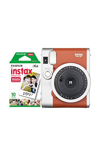414hH CWLzL - BEST BUY #1 Instax Mini 90 NEO Classic Camera with 10 Shots - Brown Reviews and price compare uk