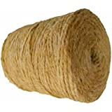 Natural Jute Twine by AAYU | 3Ply 500 Feet | Jute Rope for Industrial, Packaging, Arts & Crafts, Gifts, Decoration, Bundling, Gardening and Home