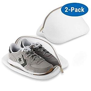 ecooe 2 Stück Wäschenetz Wäschesack für Schuhe Sneaker Multi Schutz Wäschenetz Wäschebeutel für Waschmaschine und die Reise