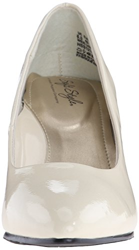 Doux Style Par Hush Puppies Pump Raylene Dress Ivory Pearlized Patent