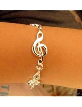 Musik Themed Alloy Violinschlüssel Entwurfs-Armband - Kleine Größe - 18cm lang - Kinder Größe
