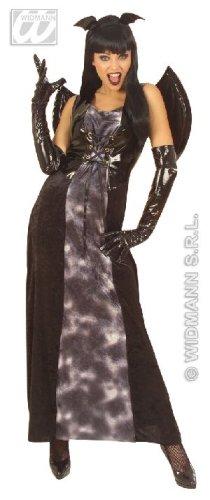 WIDMANN Damen Gothic-Kleid, Fledermaus, Vinyl, Größe XL (44-20), für Halloween, Vampir-Kostüm (Größe Halloween-kostüme 20)