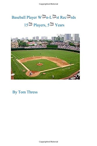 Baseball Player Won-Lost Records: 150 Players, 50 Years por Tom Thress