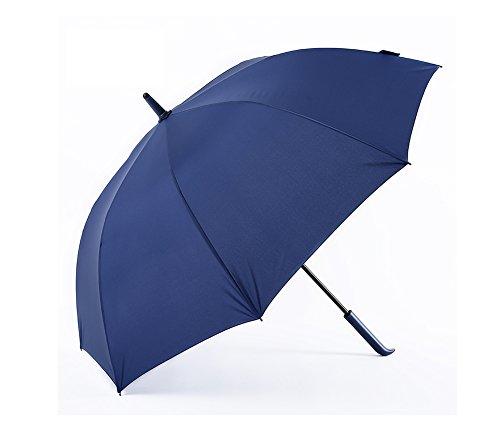 LYYUMBRELLAS ZHDC® Parapluie, Manche Long Double Commerce Coupe-Vent Protection Solaire Pluie Adulte Parapluie Parasol (Couleur : Bleu)