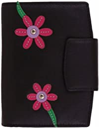 Mala Leather Blossom Tri Section Purse / Wallet