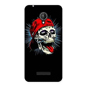 Awesome Cap Skeleton Back Case Cover for Micromax Canvas Spark Q380