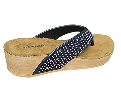 Foster Footwear Mules Femme Black/Pink Gems
