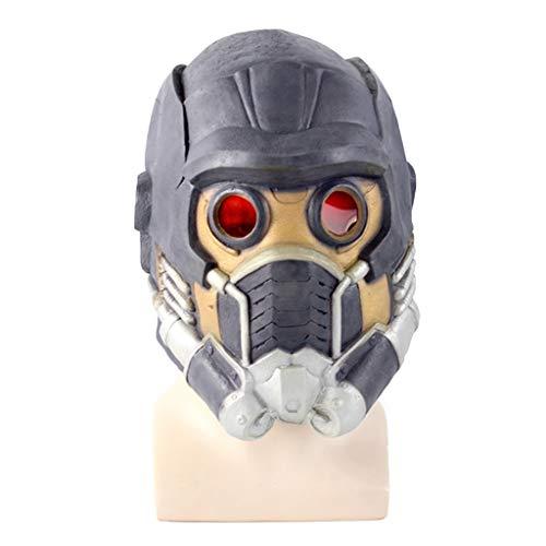 QWEASZER Marvel Avengers Guardians Maske, Star-Lord Masken Helm, Halloween Gesichtsmaske Cosplay Männer Erwachsenen Kostüm Maskerade Weihnachtsfeier Kostüm Prop,Star Lord-0cm~63cm (Star Lord Kostüm Halloween)