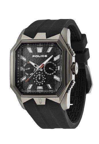 Police - 12893JSUB-02 - Typhoon - Montre Homme - Quartz Analogique - Cadran Noir - Bracelet Plastique Noir