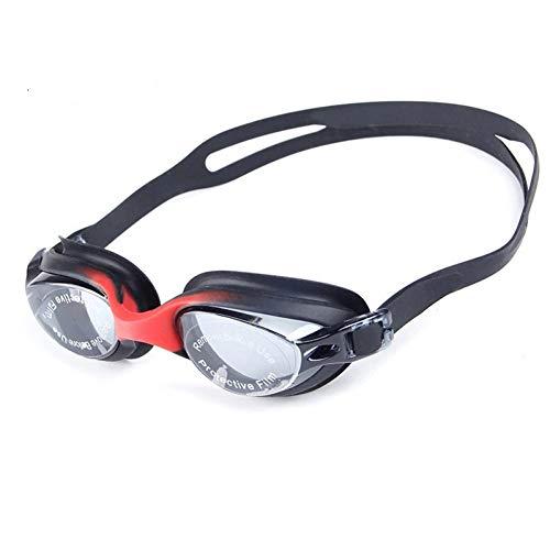 RSRZ Galvanisieren Sie Schwimmbrille-Mann-Frauen-wasserdichte Schwimmen-Schutzbrillen-Anti-Nebel-Schutz-Swim Eyewears Black