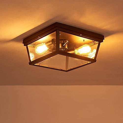 Moliay 2 Cabezas de la lámpara de Techo Industrial Creativo Cuadrado Antiguo...