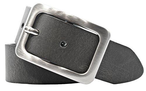 Tom Tailor Damen Leder Gürtel Grau 35mm soft vintage Rindleder (105 cm)