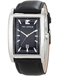 Ted Lapidus - 5118302 - Montre Homme - Quartz Analogique - Cadran - Bracelet Cuir Noir