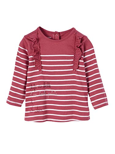 Bébé Vertbaudet T-Shirt bébé Fille à frimousse et Noeud Gris chiné 6M 67CM Bébé fille 0-24m
