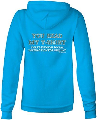 You read my T shirt ★ Confortable veste pour femmes ★ imprimé de haute qualité et slogan amusant ★ Le cadeau parfait en toute occasion hellblau