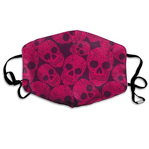 Masken für Erwachsene Waschbare wiederverwendbare MundMaskene, Pink Sugar Candy Lacquer Skulls Reusable Anti Dust Face Mouth Cover Mask Protective Breath Healthy ()